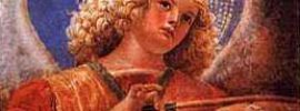 Angel with bowed instrument